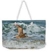 Marbled Godwit Over Surf Weekender Tote Bag