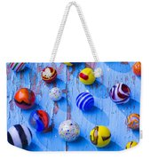 Marbles On Blue Board Weekender Tote Bag