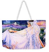 March Bride With Boxing Hares  Weekender Tote Bag by Trudi Doyle
