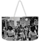 March For Equality Weekender Tote Bag by Benjamin Yeager