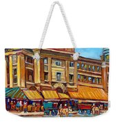Marche Bonsecours Old Montreal Weekender Tote Bag