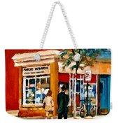 Marche Depanneur Storefront Paintings Authentic Montreal Art Prints Originals Commissions C Spandau Weekender Tote Bag