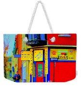Marche Unique Cafe Sandwich Depanneur Rue St. Jacques St. Henri  Street Scenes Carole Spandau Weekender Tote Bag