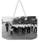 Marchers Number 1 100th Anniversary Parade Nogales Arizona 1980 Black And White  Weekender Tote Bag