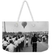 Marchers Number 2 100th Anniversary Parade Nogales Arizona 1980 Black And White  Weekender Tote Bag