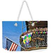 Mardi Gras Balcony Weekender Tote Bag