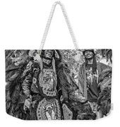 Mardi Gras Indian Monochrome Weekender Tote Bag