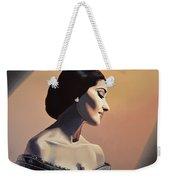Maria Callas Painting Weekender Tote Bag