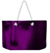 Marilyn And Mona Purple Weekender Tote Bag