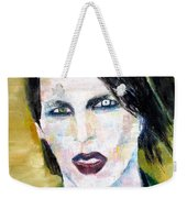 Marilyn Manson Oil Portrait Weekender Tote Bag