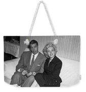 Marilyn Monroe And Joe Dimaggio Weekender Tote Bag by Underwood Archives