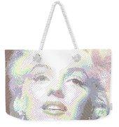 Marilyn Monroe 01 - Parallel Hatching Weekender Tote Bag