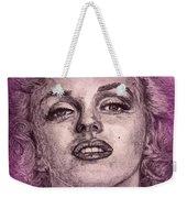Marilyn Monroe In Pink Weekender Tote Bag