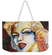 Marilyn Monroe Original Palette Knife Painting Weekender Tote Bag