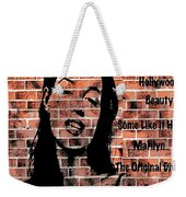 Marilyn On Brick Weekender Tote Bag