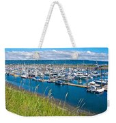 Marina Along Homer Spit-ak Weekender Tote Bag