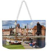 Marina And Old Town Of Gdansk Skyline Weekender Tote Bag