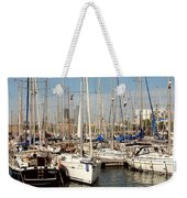 Marina At Port Vell Barcelona Weekender Tote Bag