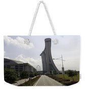 Marina Bay Sands And Singapore Flyer As Seen From A Distance Weekender Tote Bag