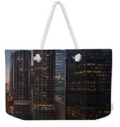 Marina City And A M A Plaza Chicago Weekender Tote Bag