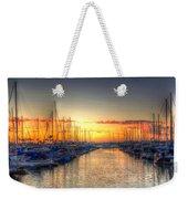 Marina Summer Sunset Weekender Tote Bag