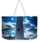 Marine City Michigan Lighthouse Weekender Tote Bag