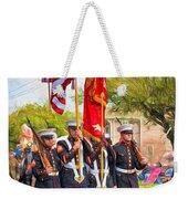 Marine Color Guard - Paint Weekender Tote Bag