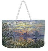 Marine View With A Sunset Weekender Tote Bag