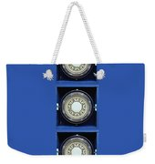 Mariners Compass Blue Weekender Tote Bag
