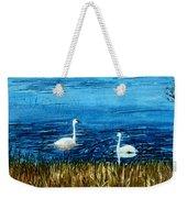Marion Lake Swans Weekender Tote Bag