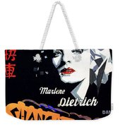 Marlene Dietrich Art Deco French Poster Shanghai Express 1932-2012 Weekender Tote Bag