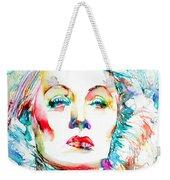 Marlene Dietrich - Colored Pens Portrait Weekender Tote Bag