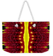 Maroon And Yellow Chrysanthemums 2 Polar Coordinates Effect Weekender Tote Bag