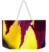 Maroon And Yellow Weekender Tote Bag