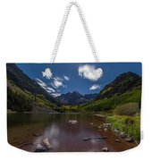 Maroon Bells At Night Weekender Tote Bag