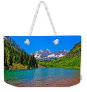 Maroon Bells In Color Weekender Tote Bag