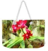 Maroon Cattleya Orchids Weekender Tote Bag