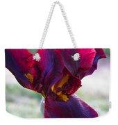 Maroon Iris Weekender Tote Bag
