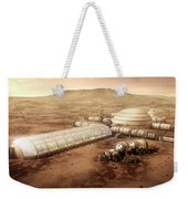 Mars Settlement With Farm Weekender Tote Bag