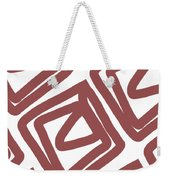 Marsala Envelopes- Abstract Pattern Weekender Tote Bag