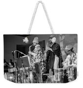 Marshall Allen And Danny Davis Weekender Tote Bag by Lee  Santa