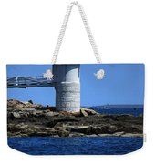 Marshall Point Surrounded By Blue Weekender Tote Bag by Karol Livote