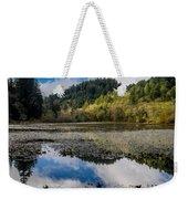 Marshall Pond In Autum Weekender Tote Bag
