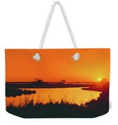 Marshland At Dusk, Bayou Country, Route Weekender Tote Bag