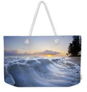 Marshmallow Tide Weekender Tote Bag