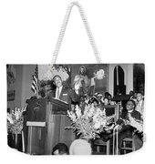 Martin Luther King Jnr 1929 1968 American Black Civil Rights Campaigner In The Pulpit Weekender Tote Bag