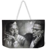 Martin Luther King Jr And Malcolm X Weekender Tote Bag