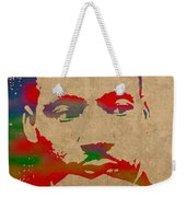 Martin Luther King Jr Watercolor Portrait On Worn Distressed Canvas Weekender Tote Bag
