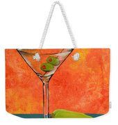 Martini And Pepper Weekender Tote Bag