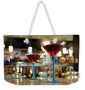 Martini Glasses In Bar Weekender Tote Bag